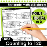 Counting to 120 - First Grade Print and Go
