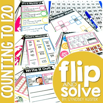 Counting to 120 - Flip and Solve Books