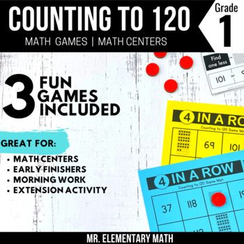 Counting to 120 Games and Centers 1st Grade