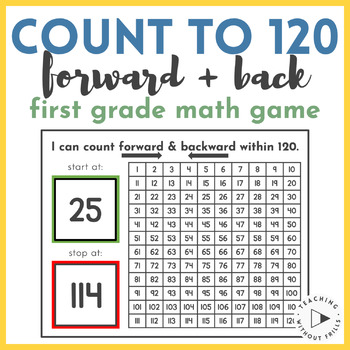 Counting to 120 Math Center Game {1st Grade Common Core 1.
