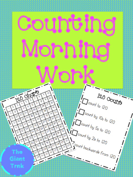 Counting to 120 Morning Work