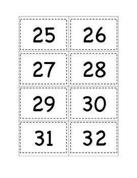 Counting to 120 Number Cards and Recording Sheet