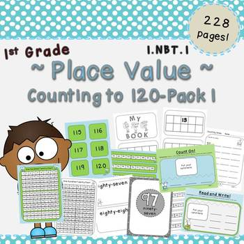 Counting to 120-Place Value Pack 1 (First Grade, 1.NBT.1)