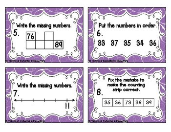 Counting to 120 Task Cards: 1st Grade Common Core: Extend the Counting Sequence
