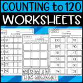 Counting to 120 Worksheets: Read and Write Numerals 1.NBT.A.1