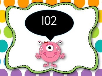 Count to 120 and back PowerPoint {Monsters Theme}