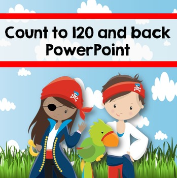 Count to 120 and back PowerPoint {Pirates}