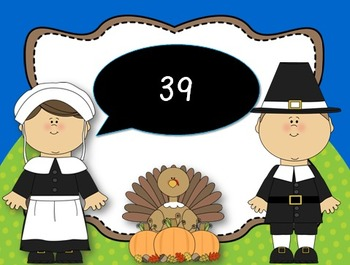 Count to 120 and back PowerPoint {Thanksgiving}
