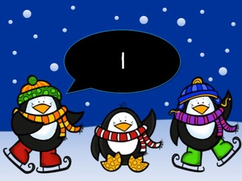 Count to 120 and back PowerPoint {Winter Penguins}