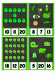 Counting to 20 Clip Card Clothes Pin Set ~ Focus color for this set is Green