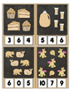 Counting to 20 Clip Card Clothes Pin Set ~ Focus color for