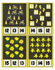 Counting to 20 Clip Card Clothes Pin Set ~ Focus color for this set is Yellow
