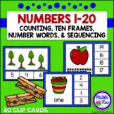 Numbers 1-20 Clip Card Bundle: Apples