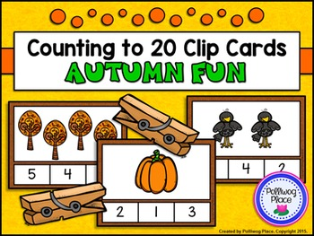 Counting to 20 Clip Cards: Autumn Fun