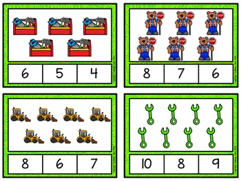 Counting to 20 Clip Cards: Big Builders