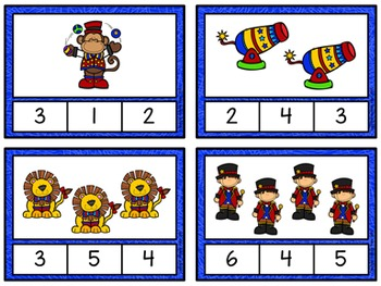 Counting to 20 Clip Cards: Circus