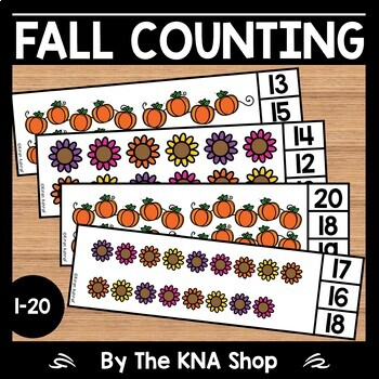 First day of fall Counting to 20 Clip Cards - Fall/Autumn Centers