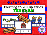 Counting to 20 Clip Cards: Farm