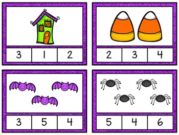 Counting to 20 Clip Cards: Halloween