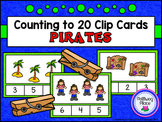 Counting to 20 Clip Cards: Pirates