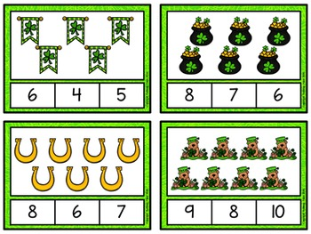 Counting to 20 Clip Cards: St. Patrick's Day