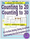 Counting to 20 & Counting to 30 : One to One Correspondence
