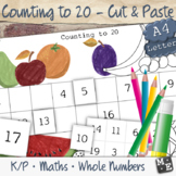 COUNTING TO 20 Cut and Paste Number Chart Worksheets