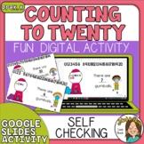 Counting to 20 Digital Resource for Kindergarten Google Sl