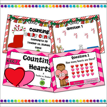 Counting to 20 Holiday Powerpoint Bundle