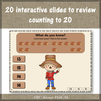 Counting to 20 Interactive Math Game ~ Number Sense Game {Dancing Scarecrow}