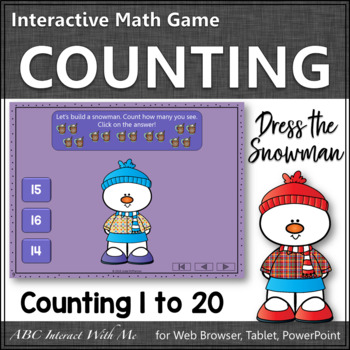 Counting to 20 Interactive Math Game ~ Number Sense Game {Dress the Snowman}