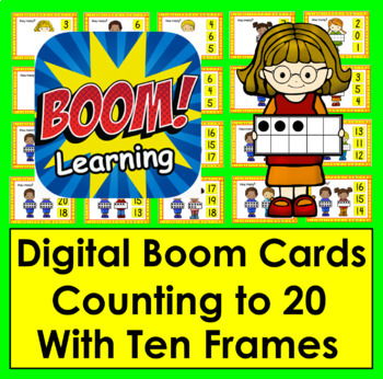 Counting to 20 - Interactive Self-Chcking Digital Task Cards - Boom Cards™