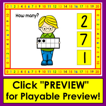 Boom Cards Math Counting to 20 - With Ten Frames Digital Task Cards