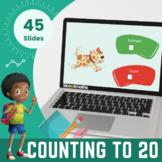 Counting to 20 Kindergarten Interactive Activities