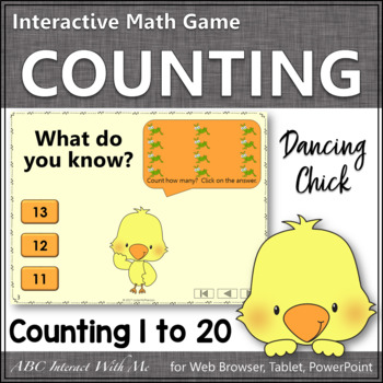 Counting to 20 Number Sense Game ~  Interactive Math Game {Dancing Chick}