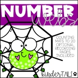 Halloween Spider Counting Mats