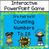 Counting to 20 PowerPoint Interactive Whiteboard Fall Theme
