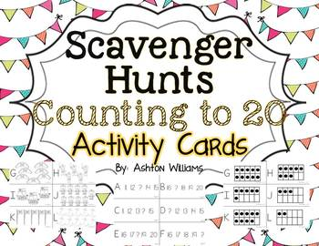Counting to 20 Scavenger Hunt Activity