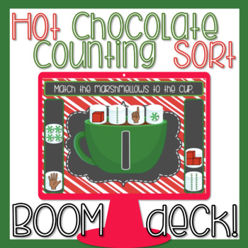 Counting to 20 Sort BOOM Deck Winter Theme Paperless Digital Task Cards
