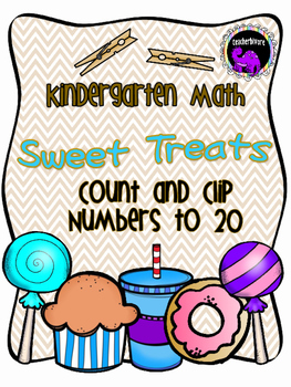 Counting to 20 Sweet Treats Count and Clip Cards