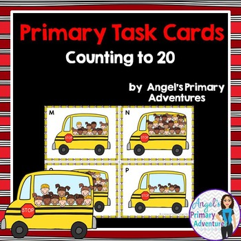 Counting to 20 Task Cards - Back to School