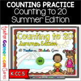 Counting to 20 Teacher vs Student PPT Game - Summer Edition