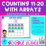 Counting to 20 With Arrays Google Slides Kindergarten Math