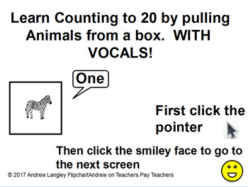 Counting to 20 by Pulling Animals that SAY Their Number From the Box!