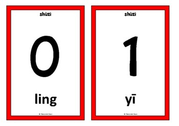 Counting to 20 in Mandarin Chinese