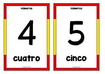 Counting to 20 in Spanish