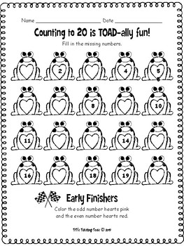Counting to 20 is TOAD-ally fun!