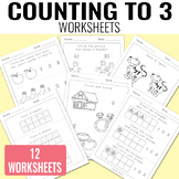 Counting to 3 Worksheets - Kindergarten