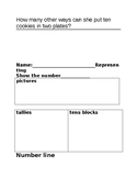 NUMBER SENSE TEST / ASSESSMENTS  GRADE 1 -read, represent, order, compare, count