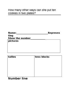 NUMBER SENSE TEST / ASSESSMENTS  GRADE 1 -read, represent, order, compare, count